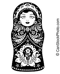 matryoshka on white background