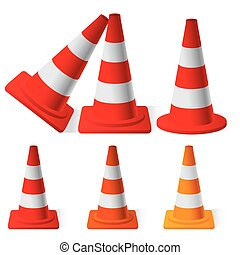 Safety Traffic Cones - vector illustration of Safety Traffic...
