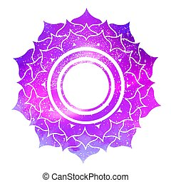 Sahasrara chakra with outer space