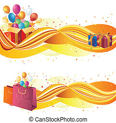 vector illustration of sale banners