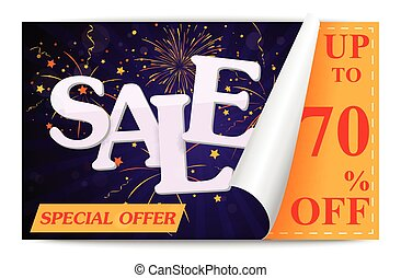 Sale coupon background