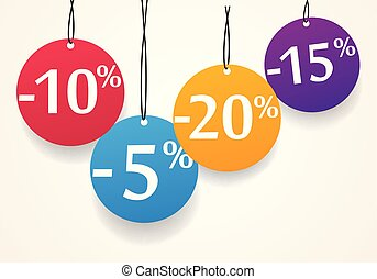 Sale discount tags