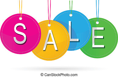 sale icon with color - vector illustration of sale icon with...