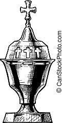 Vector illustration of sanctuary lamp - Vector hand drawn...