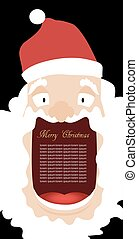 Santa Claus with a big mouth for the text