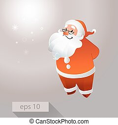 Santa Claus with glasses smiling