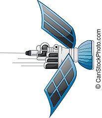 Satellite isolated on white background - Vector illustration...