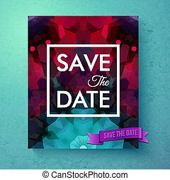 Vector illustration of Save the Date announcement card template