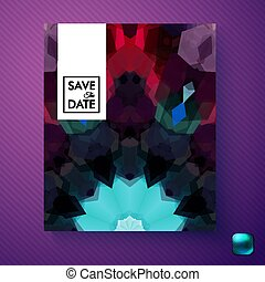 Vector illustration of Save the Date invitation template