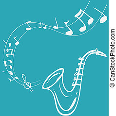 Saxophone Melody - Vector illustration of Saxophone Melody,...