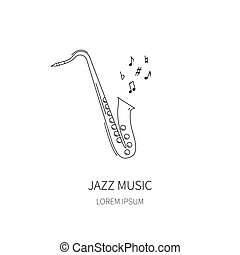 Vector illustration of saxophone.