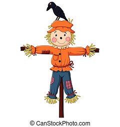 Scarecrow cartoon - Vector illustration of Scarecrow cartoon