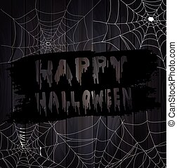 Vector Illustration of Scary Spider Webs