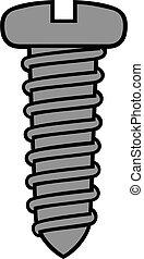 vector illustration of screw icon