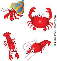 Sea Food - Vector Illustration Of Sea Food