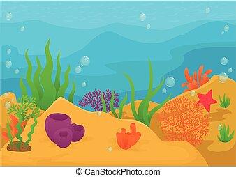 Sea life animal cartoon