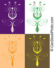 Abstract Flower Set 2