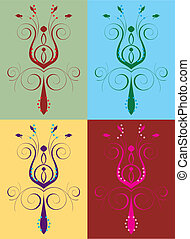 Abstract Flower Set