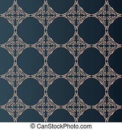illustration of seamless baroque background in vintage style