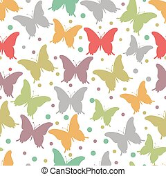 vector illustration of seamless butterfly background