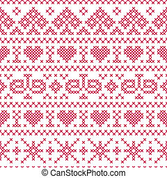 embroidery cross-stitch style