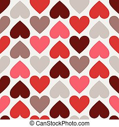 Vector illustration of seamless pattern red heart