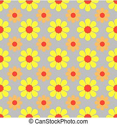 vector illustration of seamless pattern with a flower background