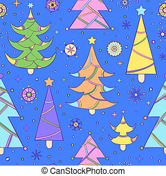 pattern with abstract christmas tree