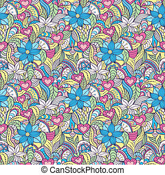 pattern with abstract flowers