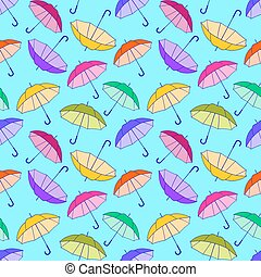 Pattern With Colorful Umbrellas