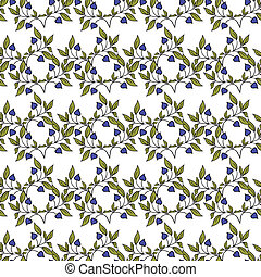 Seamless pattern with flowers in vintage style