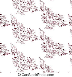 Seamless pattern with flowers on background