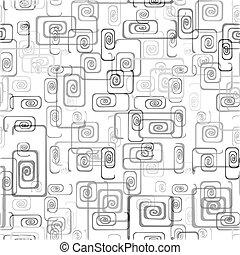 Vector illustration of seamless spiral background