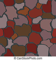 Vector illustration of seamless stone wall textures