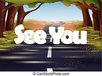 See you wallpaper background - vector illustration of See...