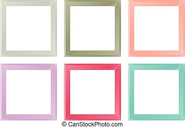 Picture Frames - Vector Illustration of Semi-Realistic...