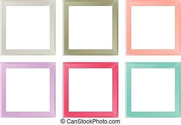 Picture Frames - Vector Illustration of Semi-Realistic...