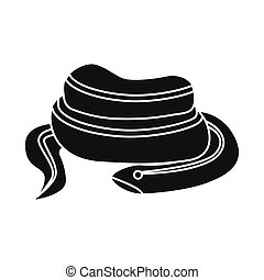 Vector illustration of serpent and red symbol. Web element of serpent and skin vector icon for stock.