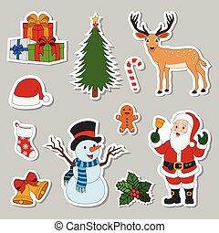 Set of accessories sticker Christmas