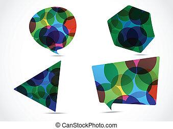 Set of big speech bubble colorful