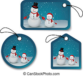 Set of Christmas bubbles, stickers,