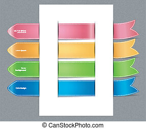 Set of color stickers