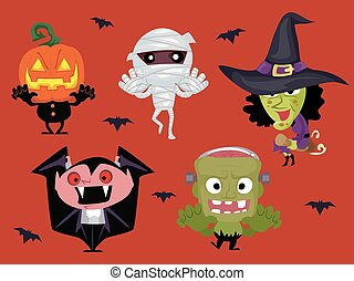 Different Halloween Characters