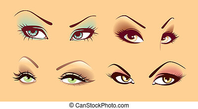 Set of eyes - Vector illustration of Set of eyes