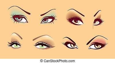 Set of eyes - Vector illustration of Set of eyes