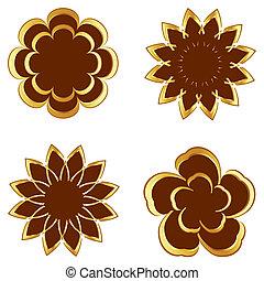 vector illustration of set of flowers