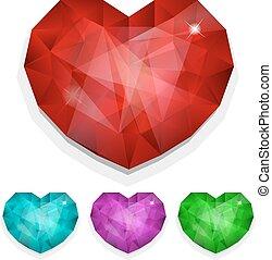 Set of gems heart
