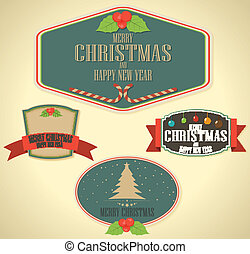 Set of vector Christmas decoration