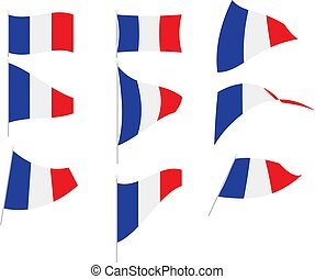 Vector Illustration of Set with France Flag