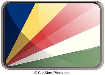 Vector illustration of Seychelles flag on white background.